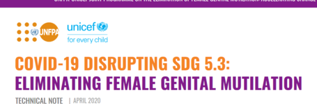 UNFPA-UNICEF Joint Programme on FGM: COVID-19 Disrupting SDG 5.3